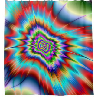Psychedelic Blast Shower Curtain