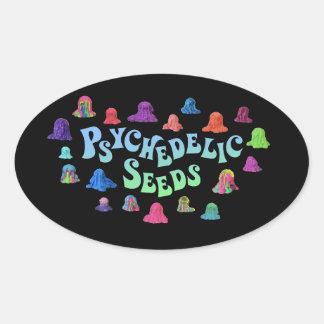 Psychedelic Blobs by Bex Ilsley (Stickerz) Oval Sticker
