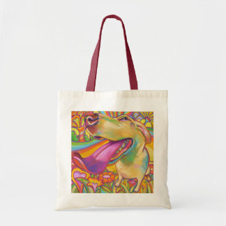 Psychedelic Blond Labrador Tote Bag