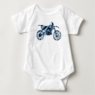 Psychedelic Blue Dirt Bike For Baby Bikers Baby Bodysuit