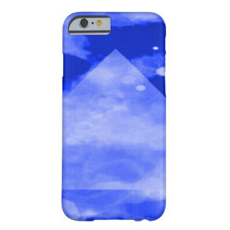 Psychedelic Blue Geometric Pyramid Barely There iPhone 6 Case