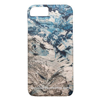 Psychedelic Blue iPhone Case