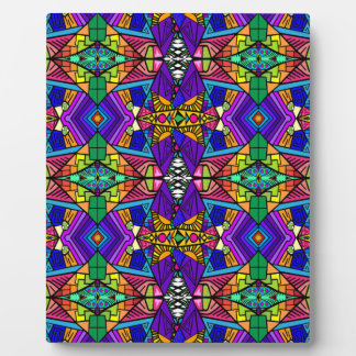 Psychedelic-Blue-Pattern-1 Plaques