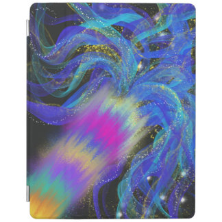 Psychedelic Blue Pink Purple Abstract Art Design iPad Cover