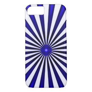 Psychedelic Blue Pinwheel iPhone 7 Case