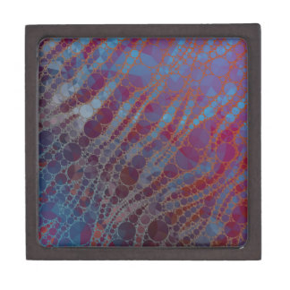 Psychedelic Blue Red Zebra Premium Jewelry Boxes