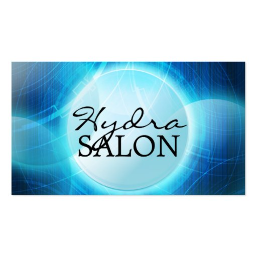 Psychedelic Blue Upscale Salon & Spa Business Card