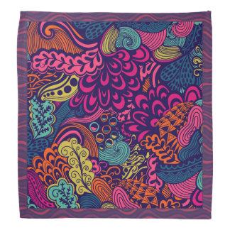 Psychedelic bright bandana