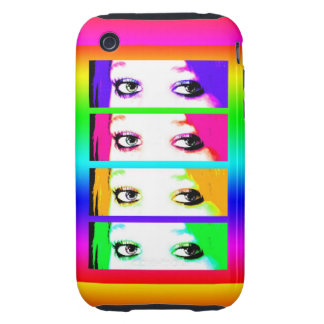 Psychedelic Bright Eyes iPhone 3 Tough Covers