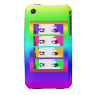 Psychedelic Bright Eyes Case-Mate iPhone 3 Case