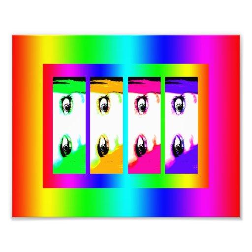Psychedelic Bright Eyes Photo Print