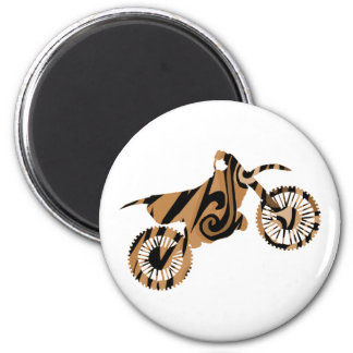 Psychedelic Brown Dirt Bike Magnets