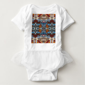 Psychedelic Building Pattern Baby Bodysuit