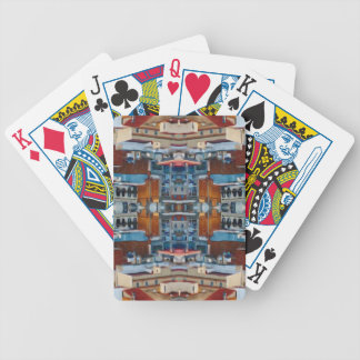 Psychedelic Building Pattern Bicycle Playing Cards