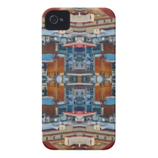 Psychedelic Building Pattern iPhone 4 Cover