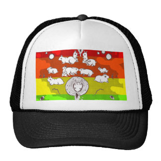 Psychedelic Bunnies! Mesh Hat