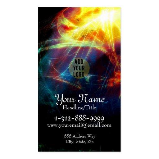 Psychedelic Burst Fractals Business Card