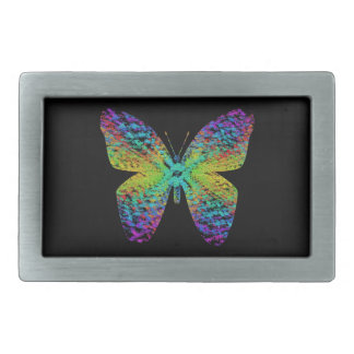Psychedelic butterfly. belt buckles