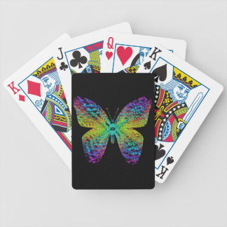 Psychedelic butterfly. bicycle playing cards