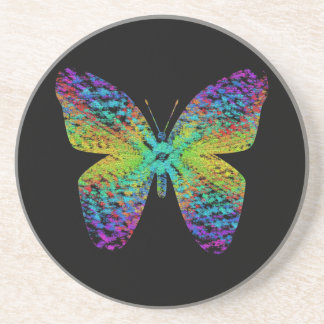 Psychedelic butterfly. coaster