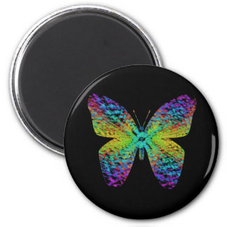 Psychedelic butterfly. magnet