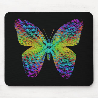 Psychedelic butterfly. mouse pad