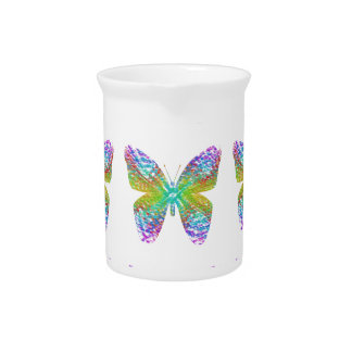 Psychedelic butterfly. pitcher