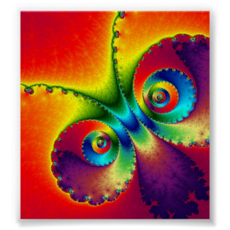 Psychedelic Butterfly Print