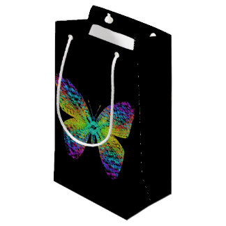Psychedelic butterfly. small gift bag