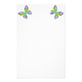 Psychedelic butterfly. stationery