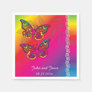 Psychedelic Butterfly Wedding Designs -Napkins Paper Napkin