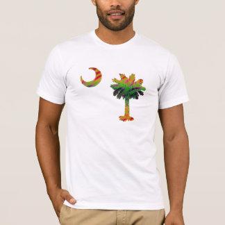 Psychedelic Carolina Palmetto & Crescent T-Shirt