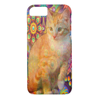 Psychedelic Cat Phone Case, Tie Dye Cat iPhone 8/7 Case