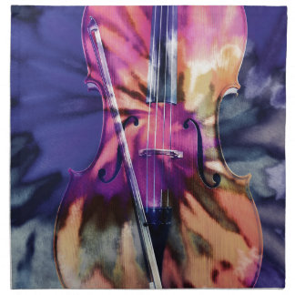 Psychedelic cello napkin