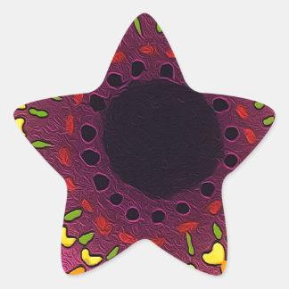 Psychedelic Chakras Star Sticker