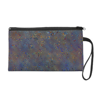Psychedelic Chaos Abstract Wristlet