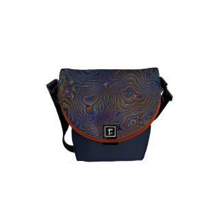 Psychedelic Chaos Abstract Courier Bags