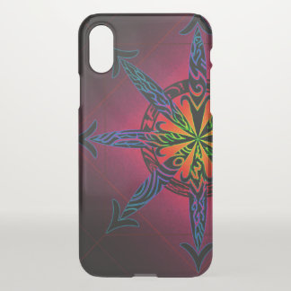 Psychedelic Chaos Clearly Deflector iPhone X Case