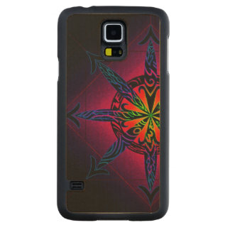 Psychedelic Chaos on Genuine Hardwood Maple Carved Maple Galaxy S5 Case