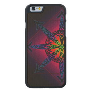 Psychedelic Chaos on Genuine Hardwood Maple Carved Maple iPhone 6 Case