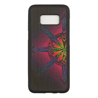 Psychedelic Chaos on Genuine Hardwood Maple Carved Samsung Galaxy S8 Case