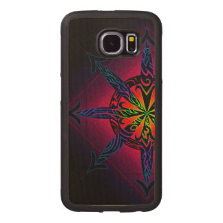 Psychedelic Chaos on Genuine Hardwood Maple Wood Phone Case