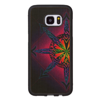 Psychedelic Chaos on Genuine Hardwood Maple Wood Samsung Galaxy S7 Edge Case