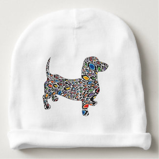 Psychedelic-Cheetah-Doxie Baby Beanie