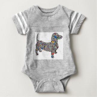 Psychedelic-Cheetah-Doxie Baby Bodysuit
