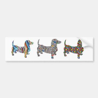 Psychedelic Cheetah Doxie Bumper Sticker