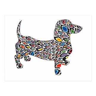 Psychedelic-Cheetah-Doxie Postcard