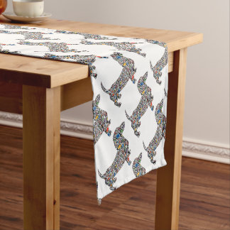 Psychedelic-Cheetah-Doxie Short Table Runner