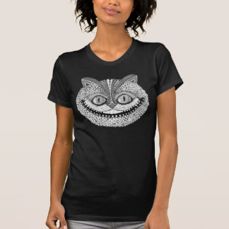 Psychedelic Cheshire Cat Grey Tee Shirts