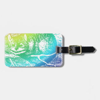 Psychedelic Cheshire Cat Trippy Alice Luggage Tag